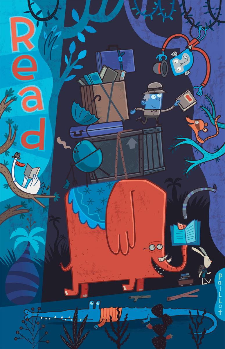 Read Poster - Elephant