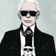 Karl Lagerfeld Portrait