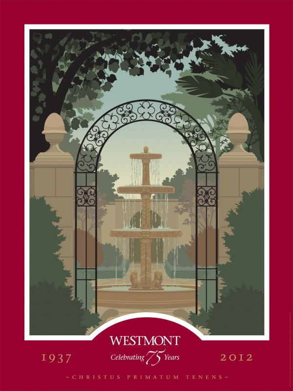 Westmont College 75th Anniversary Commemorative Poster