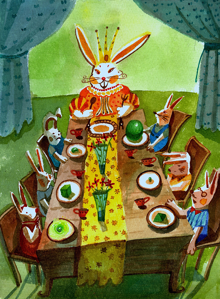 Queen Rabbit's Dinner Table