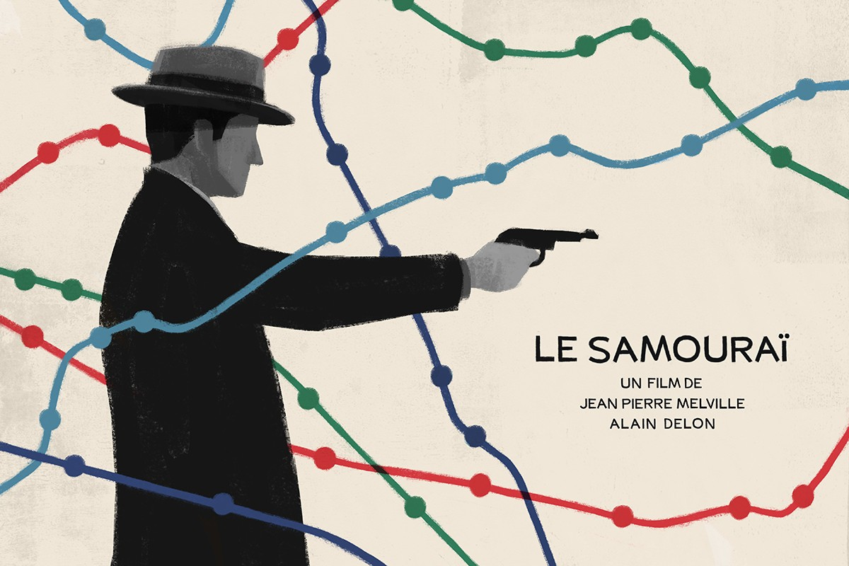 Le Samourai poster - Illustration West 54