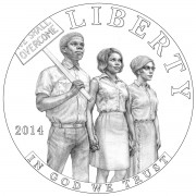 2014 Civil Rights Act of 1964 Commemorative Silver Coin Obverse Design