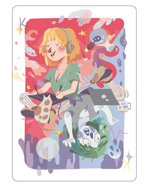 Art School Poker Card