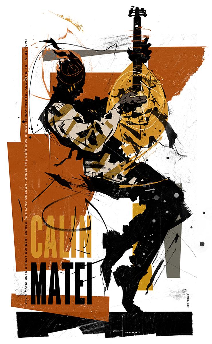Calin Matei Gig Poster