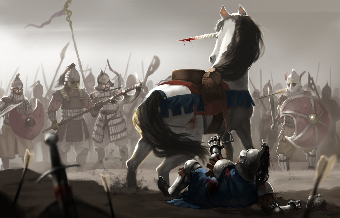 The Unicorn and the Fallen Knight