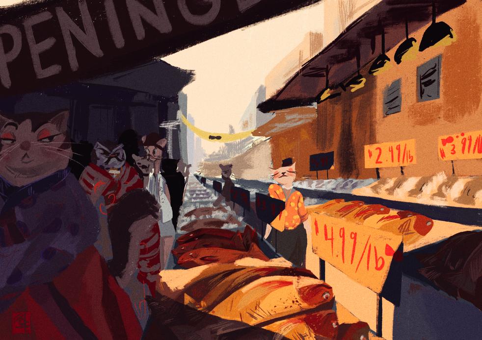 A cats market