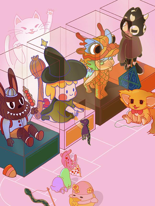 Advertising Illustration for Beijing Toys show